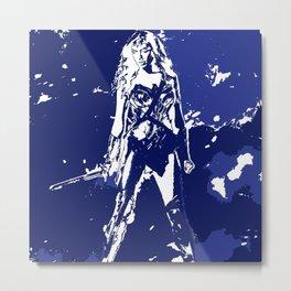 Diana Prince (Minimalist-Blue) Metal Print