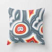 agate Throw Pillows featuring Agate by Alex Morgan