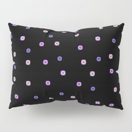 Bright Buttons on Black Pillow Sham