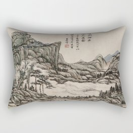 Fishing in River Country at Blossom Time Rectangular Pillow