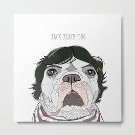 Celebrity Dog - Jack Black-Dog Metal Print