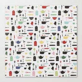 Retro Kitchen Canvas Print