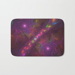 Colorful And Luminous Fractal Art Bath Mat