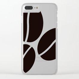 coffee bean Clear iPhone Case