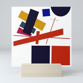Geometric Abstract Malevic #12 Mini Art Print