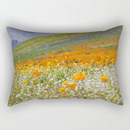 Golden Meadow of Poppies by Reay of Light Photography Rectangular Pillow