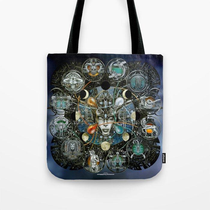 """Astrological Mechanism - Zodiac"" Tote Bag"
