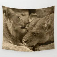 mother Wall Tapestries featuring Mother and son II by AvHeertum