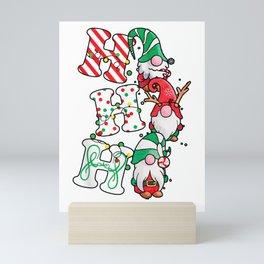 ho ho ho christmas gnomies Mini Art Print