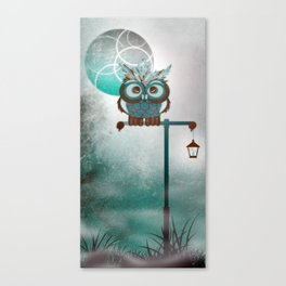 Fluffy Owl Canvas Print
