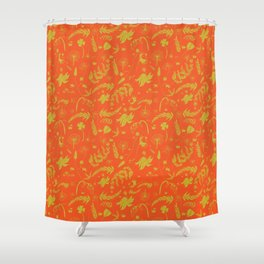 Yellow/green + Orange Spring Folliage SS18 Shower Curtain