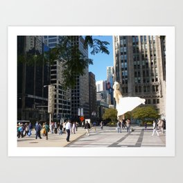 Marylin in Chicago, 2011 Art Print