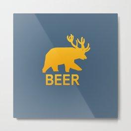 Life is strange - Beer Metal Print