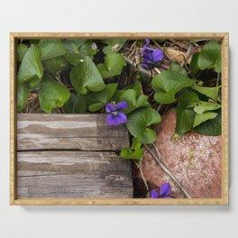 Violets Serving Tray