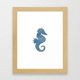 Watercolor Seahorse by Lo Lah Studio Framed Art Print