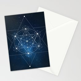 Sacred Geometry Galaxy Stationery Cards
