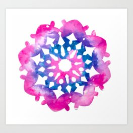 colourful circle  Art Print