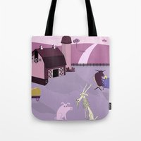 farm Tote Bags featuring Farm by Andrew Formosa