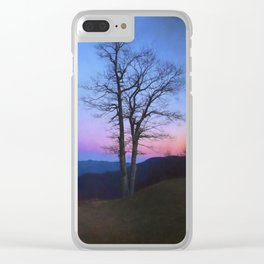 Parkway Overlook at Sunset Clear iPhone Case
