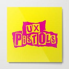 UX Pistols (pink) Metal Print