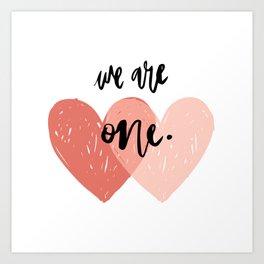 Soul mates hearts Art Print