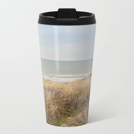 View of the North Sea from the dunes Metal Travel Mug