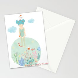 Send Your Love to the Sea Stationery Cards