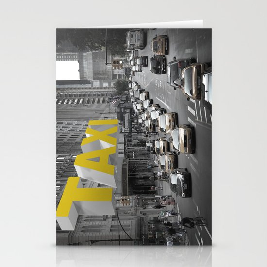 New York Taxi in the air Stationery Cards