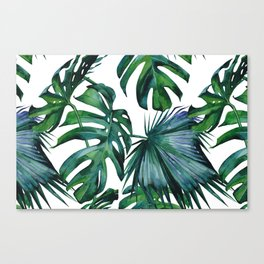 Tropical Palm Leaves Classic II Canvas Print