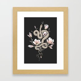 Magnolia and Serpent Framed Art Print