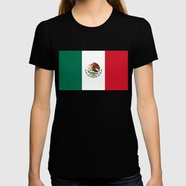 Flag of Mexico - Authentic Scale and Color (HD image) T-shirt