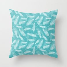 Seamless feathers pattern Throw Pillow