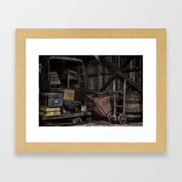 Old Railway Storage Shed Framed Art Print