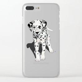 Dalmatian Puppy Clear iPhone Case