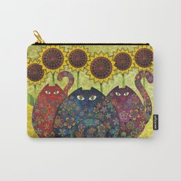 Cats & Sunflowers Carry-All Pouch