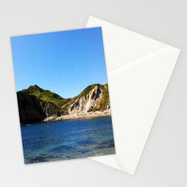 West Lulworth cove Stationery Cards
