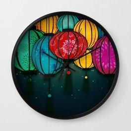 Chinese Lanterns Wall Clock