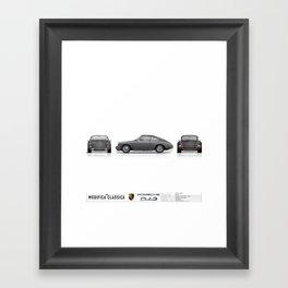 1965 Porsche 912 Slate Grey 3-view Framed Art Print