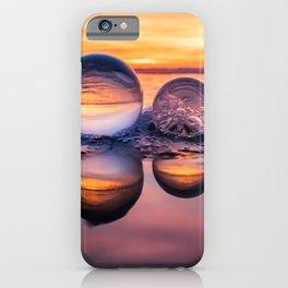 Double Beach Lensball Reflections (purple, pink, orange) iPhone Case