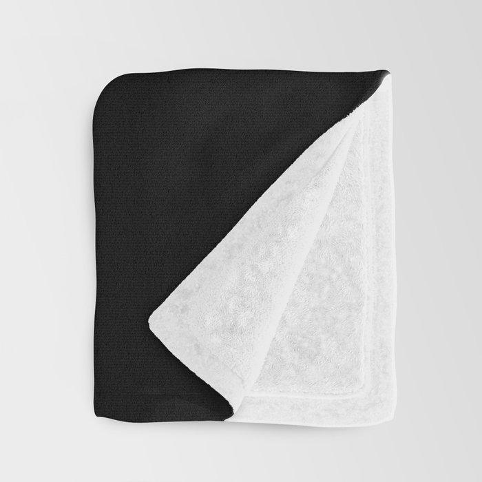 get naked // white on black Throw Blanket