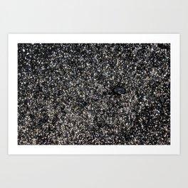 Sand at Cobblestone Beach Art Print
