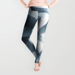 Abstract Cubizm Charcoal Drawing Leggings