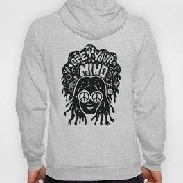 Open Your Mind in black Hoody