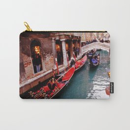 Gondolas On A Small Venetian Canal Carry-All Pouch