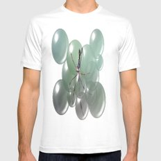 Spider in a blub White MEDIUM Mens Fitted Tee