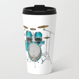 Green Drum Kit Travel Mug
