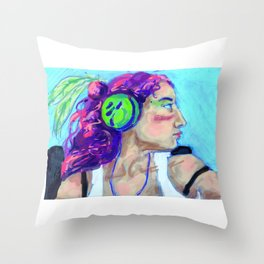 Electric Listening Throw Pillow