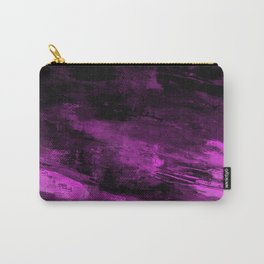 Purple Haze - Abstract, purple and black painting Carry-All Pouch
