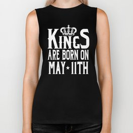 Kings Are Born On May 11th Funny Birthday T-Shirt Biker Tank