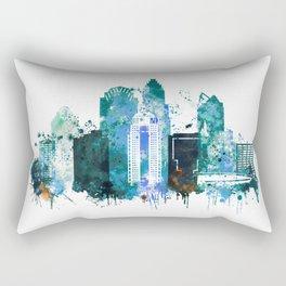 Charlotte Skyline watercolor Rectangular Pillow